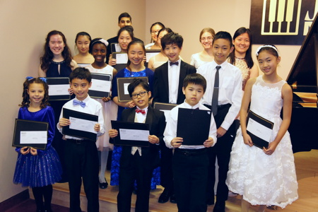 The scholarship winners at the winners musicale AMay 1, 2016