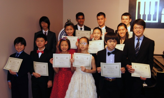All the scholarship winners at the winners musicale May 4th, 2014